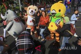 Peserta JKN-KIS Ambon semarakkan senam Asian Games