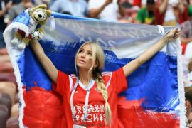 Galeri foto Piala Dunia saat Rusia menyisihkan Spanyol