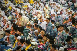 Pemeriksaan imigrasi Saudi dilakukan di bandara Indonesia