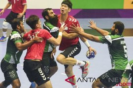 Babak pertama, Tim bola tangan Indonesia vs Pakistan 10-12