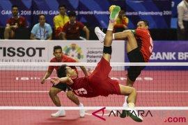 Tim sepak takraw Indonesia unggul 2-0 atas Filipina