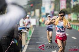 Hendro meraih medali emas jalan cepat 20km