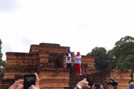 Api Asian Games dibawa ke puncak candi Tinggi Muarojambi