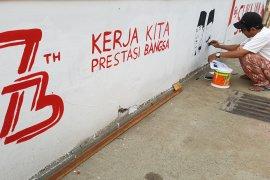 Pembuatan Mural Kemerdekaan