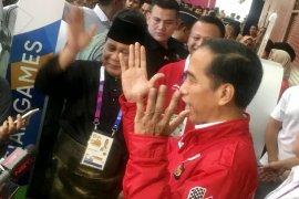 Presiden Jokowi : Selamat Prabowo sukses komandani raihan emas
