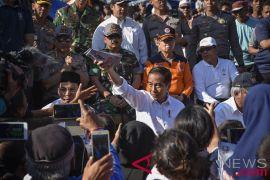 Presiden sambangi korban gempa di Lombok Utara