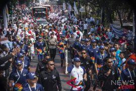 Dishub atur lalu lintas kirab obor di Jakarta Utara