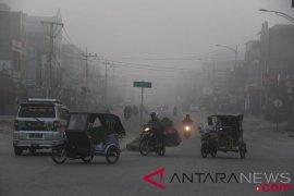 Ribuan warga Rokan Hilir terpapar asap kebakaran lahan