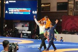 Pegulat India raih medali emas kelas 50kg putri