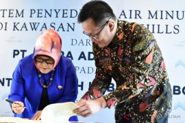 Pemkab Bogor menandatangani serah terima aset