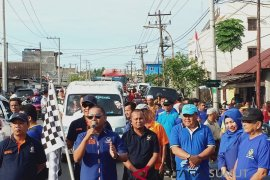 Ribuan masyarakat ikuti gerak jalan santai partai Nasdem