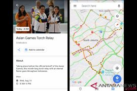 Cara lihat Torch Relay Asian Games di Google Maps