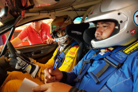 Bapak anak Gelael turun gunung di Merdeka Sprint Rally