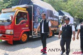 Anies lepas 20 truk bantuan logistik untuk Lombok