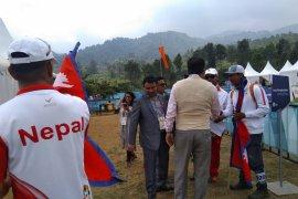 Menpora Nepal berkunjung sejumlah atlet yang gagal mendarat
