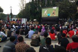 Pengunjung Antusias Nobar Indonesia-UEA di GBK