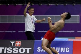 Jonatan Christie rebut emas tunggal putra