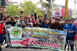 Jurnalis Kaltim galang dana bencana gempa NTB-Bali