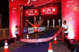 Lourencia Lioe peserta tertua kejuaraan marathon beregu Indonesia