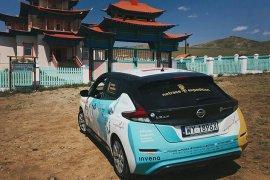 Nissan Leaf tempuh jarak 16 ribu km jelajahi dua benua