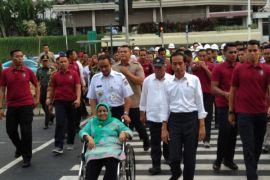 Jokowi-Anies gunakan pelican crossing HI