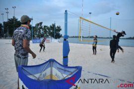 Tim voli pantai putri indonesia taklukan Kazakhstan