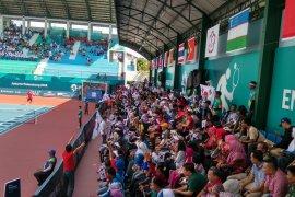 Teriakan Indonesia-Korea dalam final soft tenis