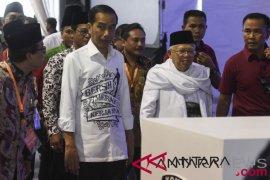 Jokowi-Ma'ruf tiba di KPU