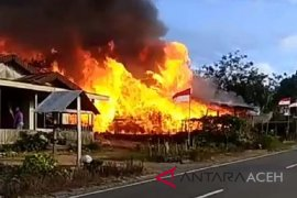 Dua orang terluka pada kebakaran enam rumah di Aceh Tenggara