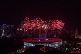 Mengheningkan cipta untuk Lombok di upacara pembukaan Asian Games 2018