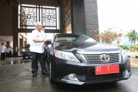 Gubernur Kaltim Awang Faroek Ishak pamitan