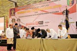 30 Desa/Kelurahan Lampung Raih Penghargaan Anubhawa Sasana 2018