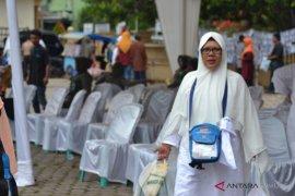 Jemaah Haji kloter 14 asal Padangsidimpuan tiba di Kampung Halaman