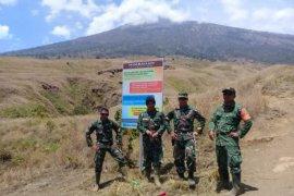 TNI cek kondisi jalur pendakian Rinjani pascagempa