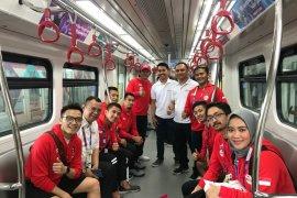 Atlet Asian Games ikut uji coba LRT