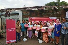 Pertamina beri bantuan korban banjir di Medan