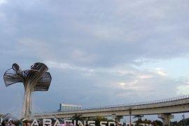 Masyarakat Palembang berwisata di hari terakhir Asian Games 2018