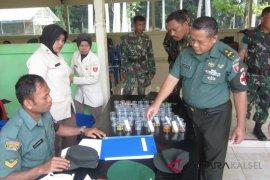 Mendadak Dandim 1002/Barabai tes urine seluruh anggotanya