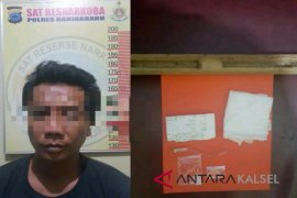 Satresnarkoba Polres Banjarbaru sita dua paket sabu-sabu