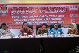 KPU Bengkulu tetapkan 616 calon legislator