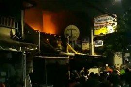 Kebakaran di gudang Indomaret telah bisa dipadamkan