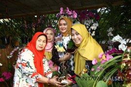 Siti Wasilah Apresiasi Festival Anggrek di Taman Kamboja
