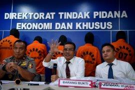 Polisi tangkap lima tersangka kasus pembobolan 14 bank senilai Rp14 triliun