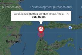 BMKG Akhiri Peringatan Dini Tsunami Sulteng-Sulbar