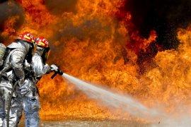 Gedung Kementerian Hukum dan HAM terbakar