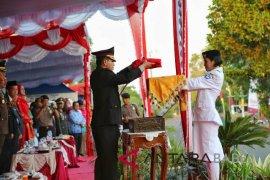 Kapolres Bangka Selatan pimpin Upacara Penurunan Bendera