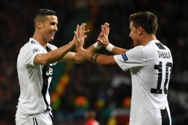 Ronaldo nirgol di Old Trafford, tapi Juventus raih tiga poin