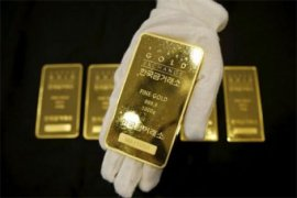 Harga emas berjangka naik tipis