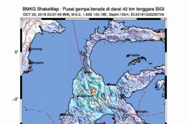 Gempa 5,2 SR guncang Sulteng