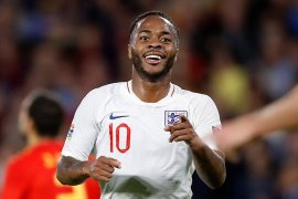 Raheem Sterling lega akhiri puasa gol di timnas Inggris